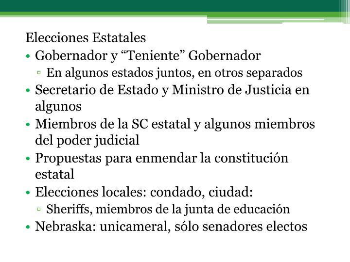 Elecciones Estatales