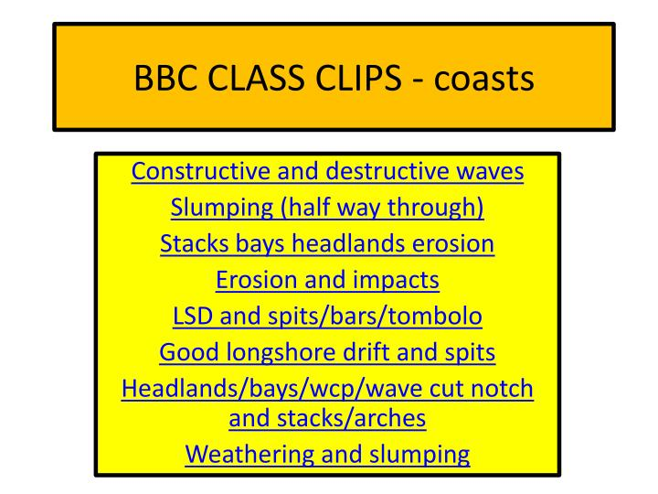 bbc class clips coasts n.