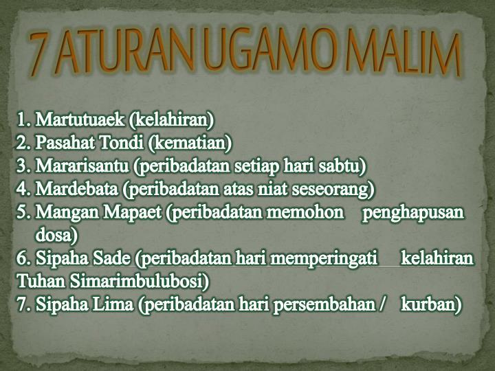 7 ATURAN UGAMO MALIM