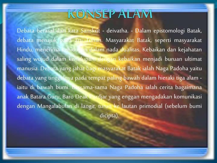 KONSEP ALAM