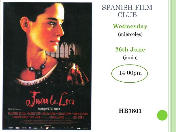 SPANISH FILM CLUB
