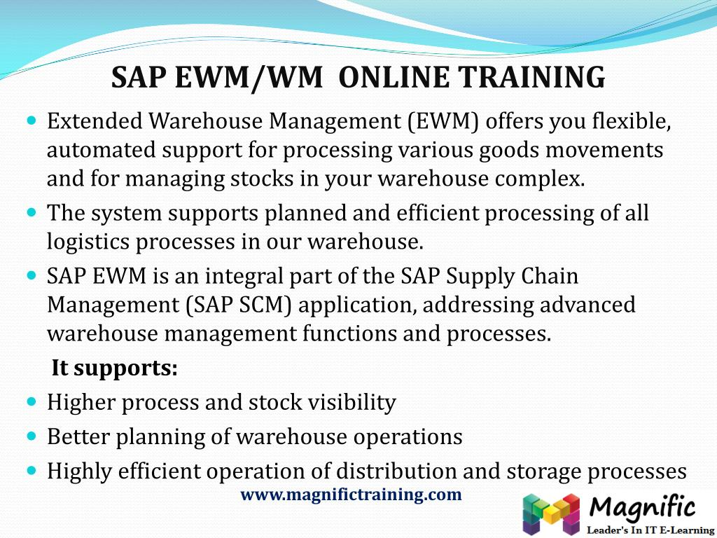PPT - SAP WM Online Training with free Demo class IT Experts