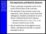 the importance and need for deacons2