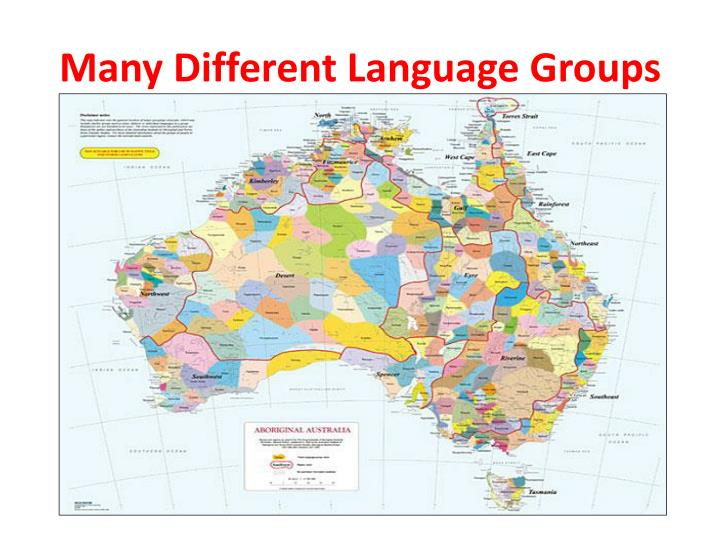Many Different Language Groups
