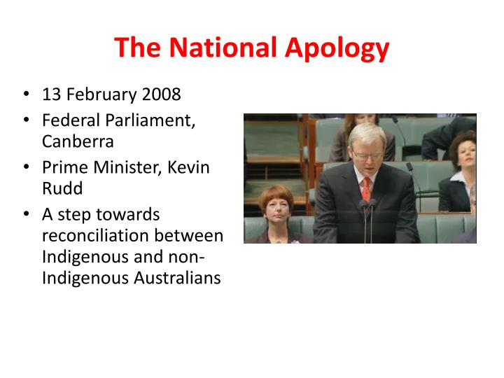 The national apology