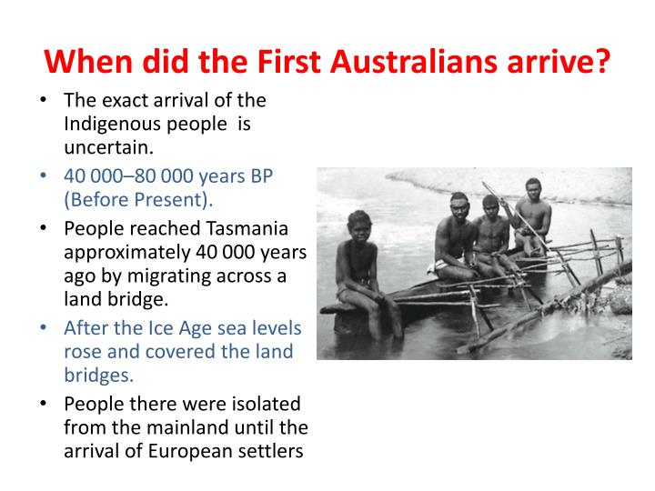 When did the First Australians arrive?