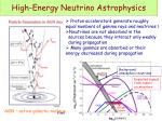 high energy neutrino astrophysics