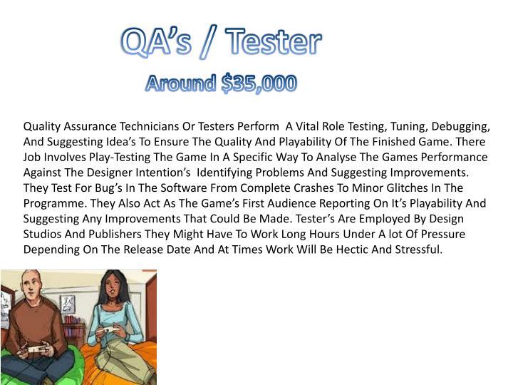 QA's / Tester