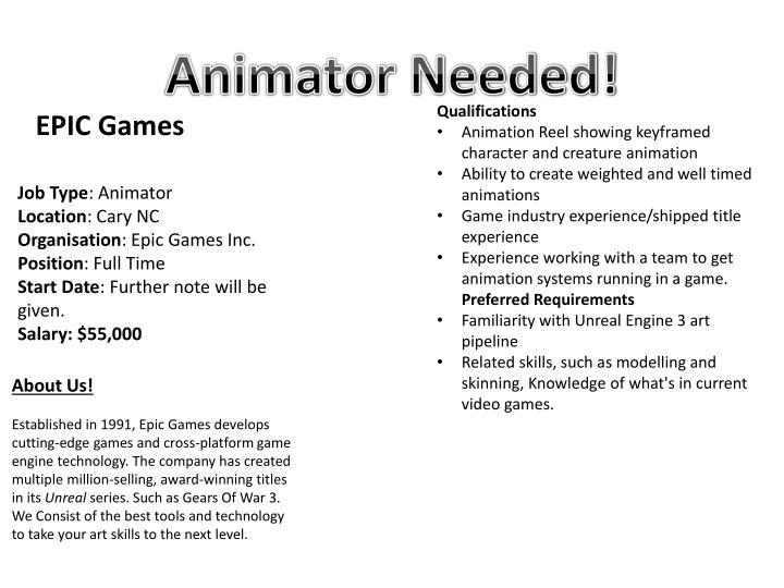 Animator Needed!