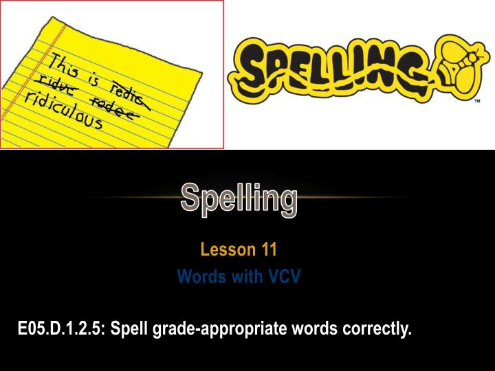 lesson 11 words with vcv n.
