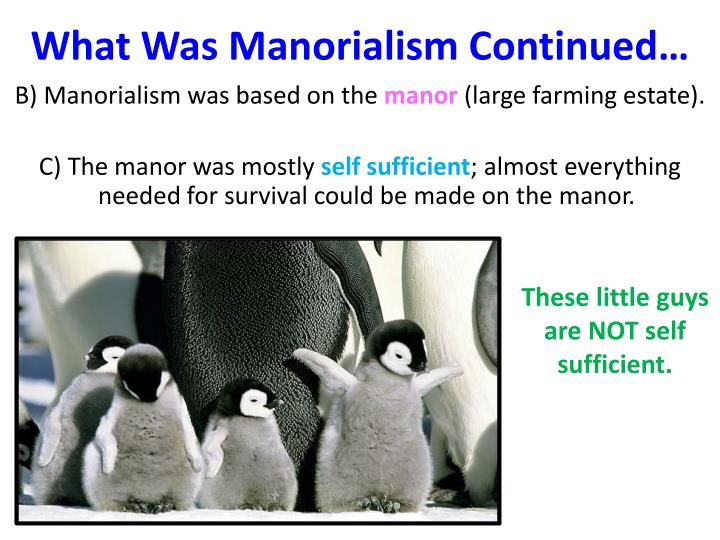 What was manorialism continued