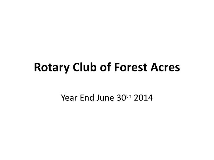 rotary club of forest acres n.