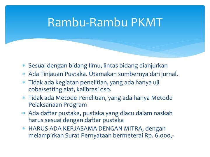 Rambu-Rambu PKMT