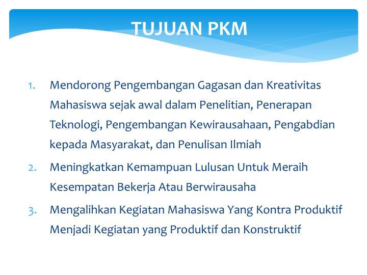 Tujuan pkm