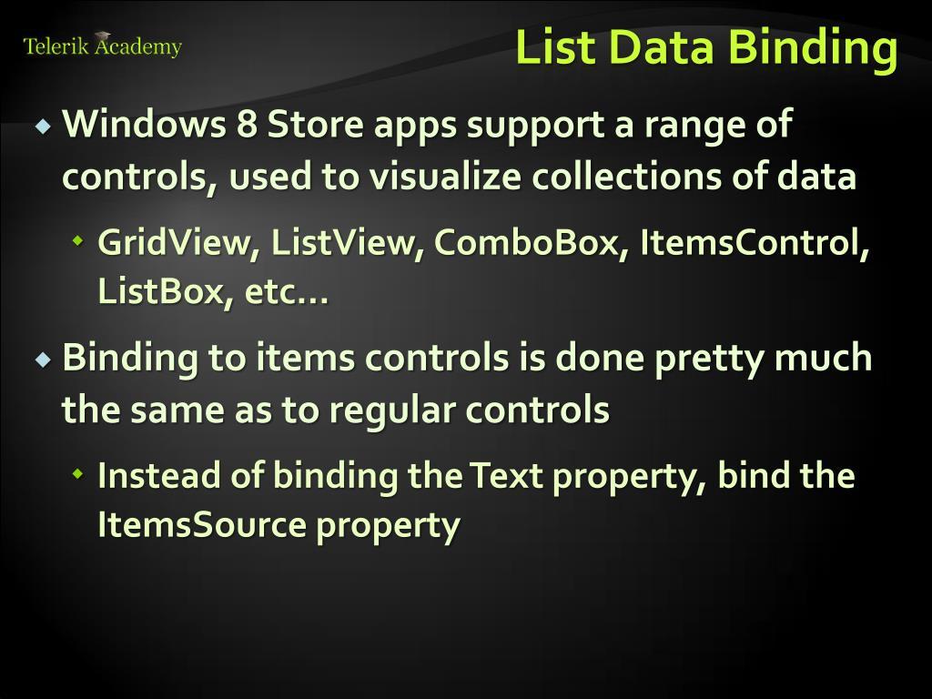 PPT - Data Binding PowerPoint Presentation - ID:2151865