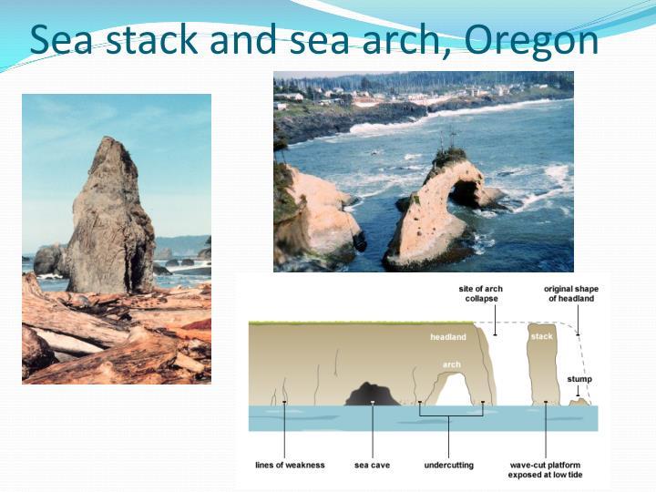 Sea stack and sea arch, Oregon