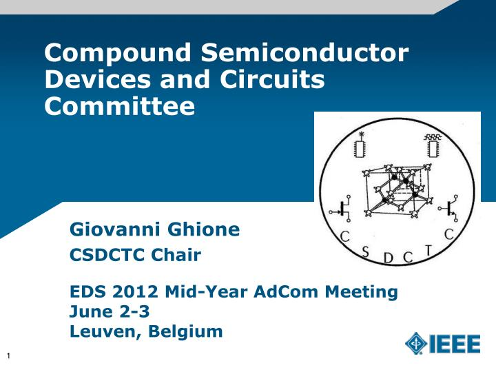compound semiconductor devices and circuits committee n.