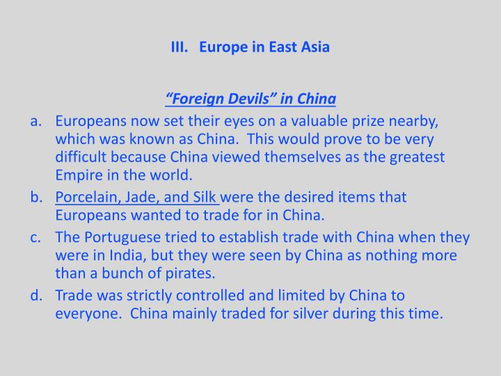 Europe in East Asia