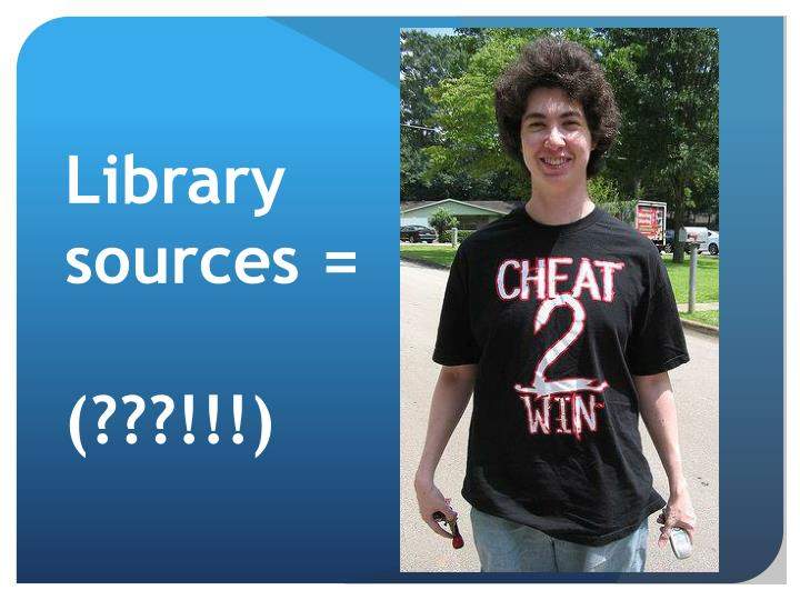 Library sources =