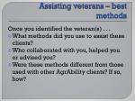 a ssisting veterans best methods