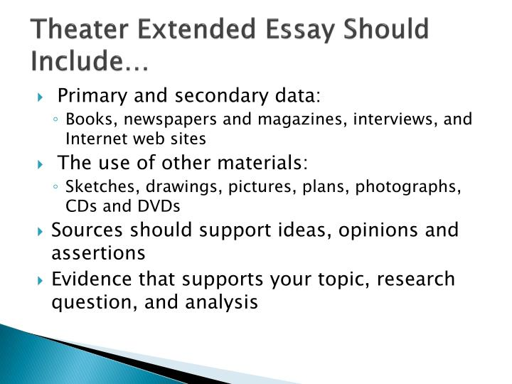 number of sources for extended essay