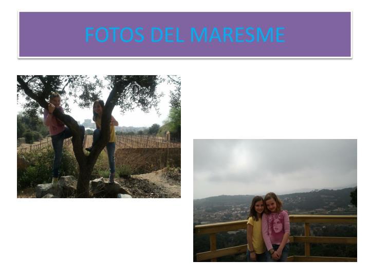 FOTOS DEL MARESME