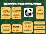 descartes and god the ontological argument