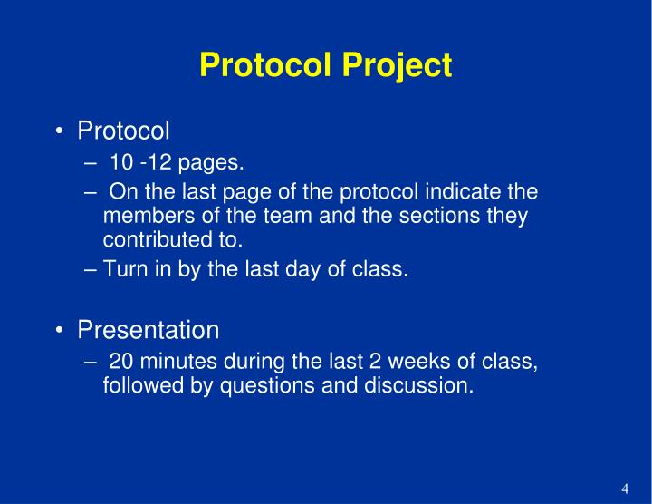 Protocol Project