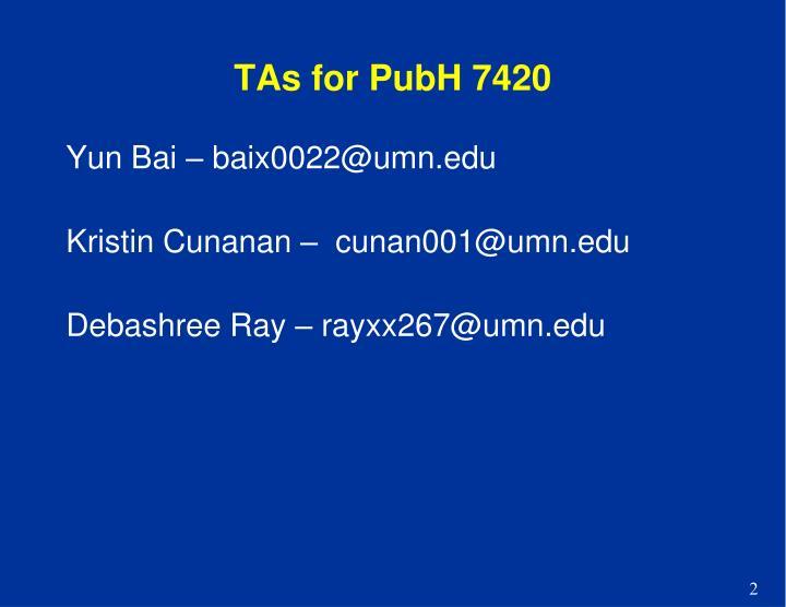 Tas for pubh 7420