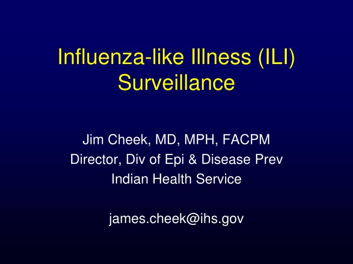 influenza like illness ili surveillance n.