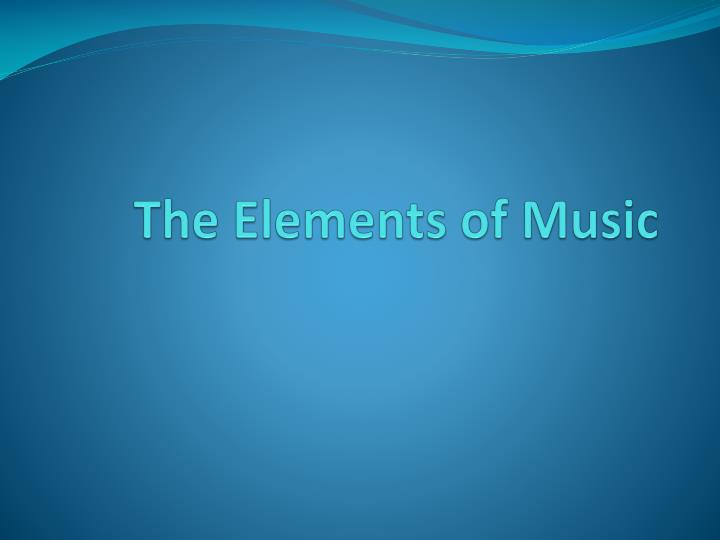 the elements of music n.