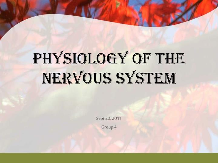 physiology of the nervous system n.