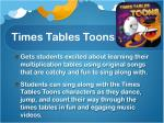 times tables toons