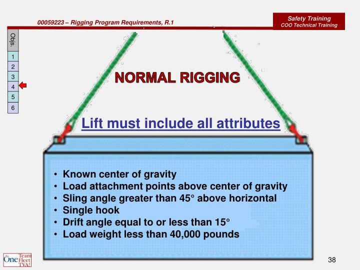 NORMAL RIGGING