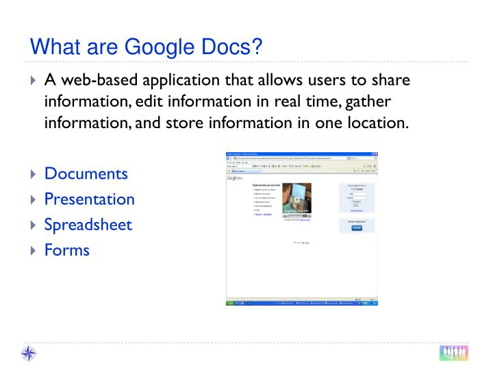 What are Google Docs?