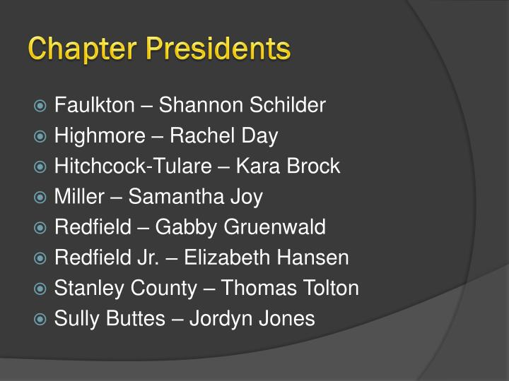 Chapter Presidents
