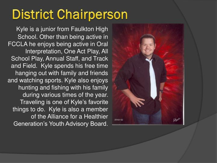 District Chairperson