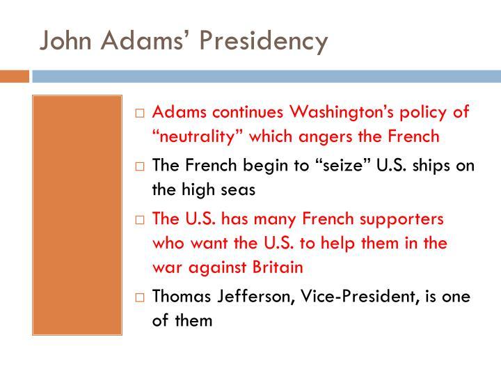 John Adams' Presidency