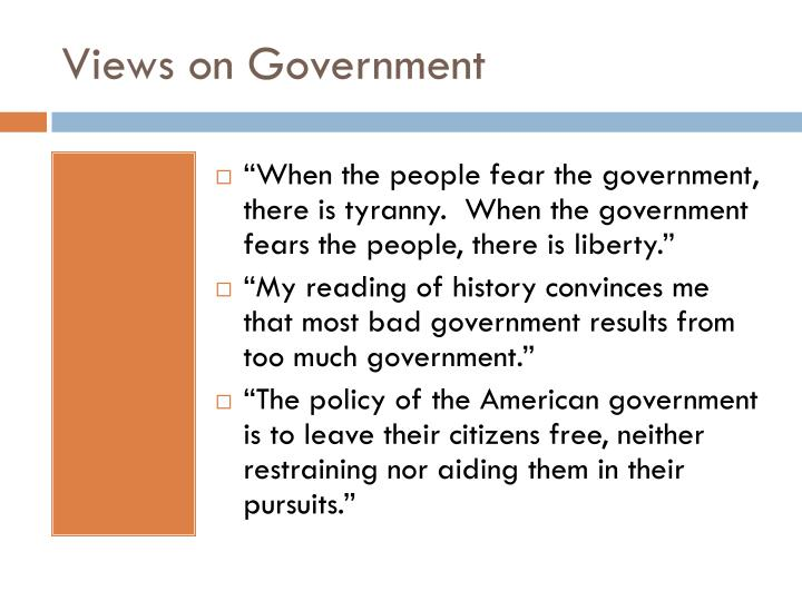 Views on Government