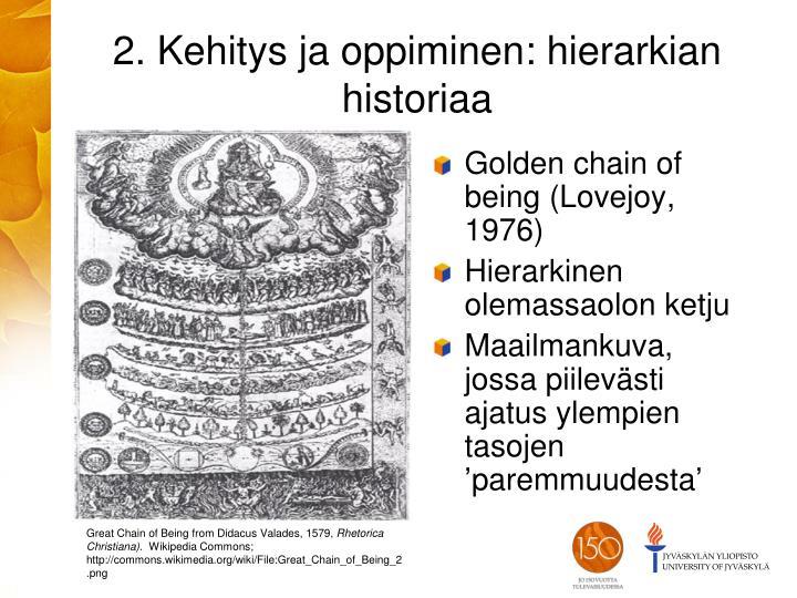 2. Kehitys ja oppiminen: hierarkian historiaa