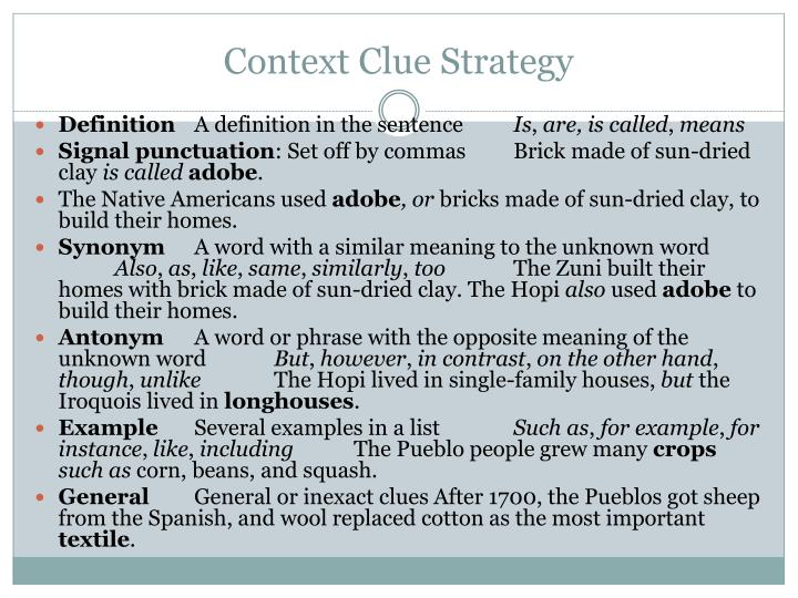 Context Clue Strategy