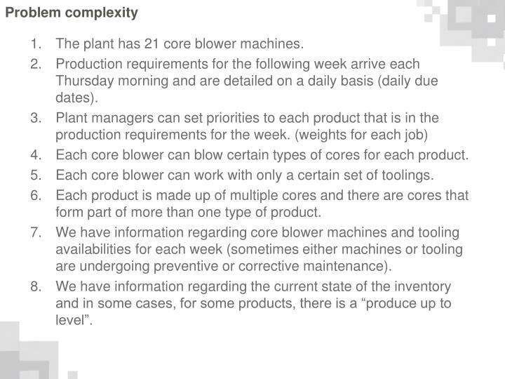 Problem complexity