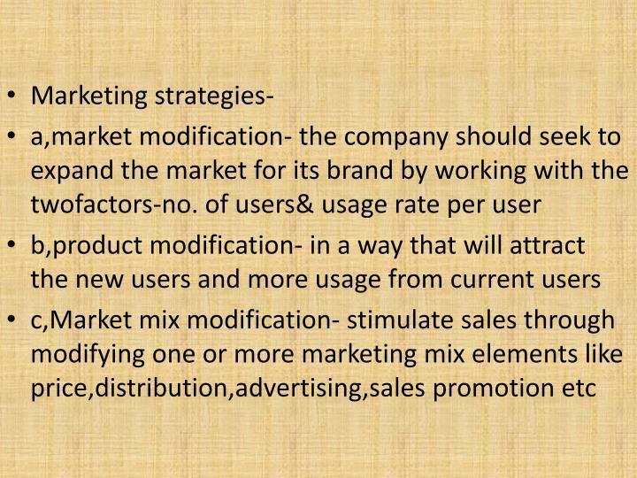 Marketing strategies-