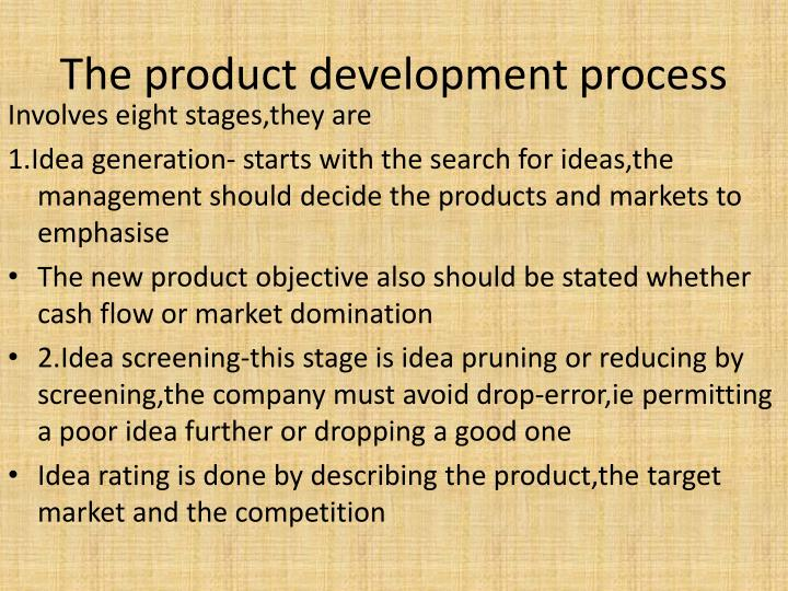 The product development process