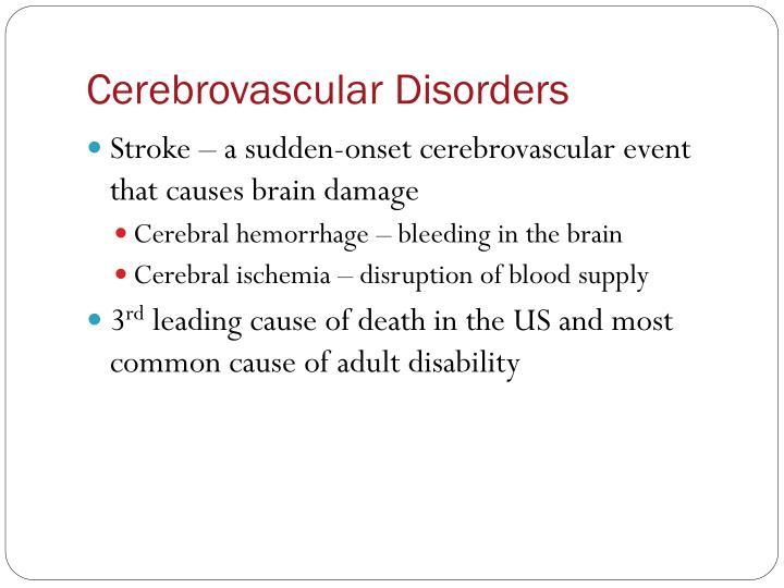 Cerebrovascular Disorders