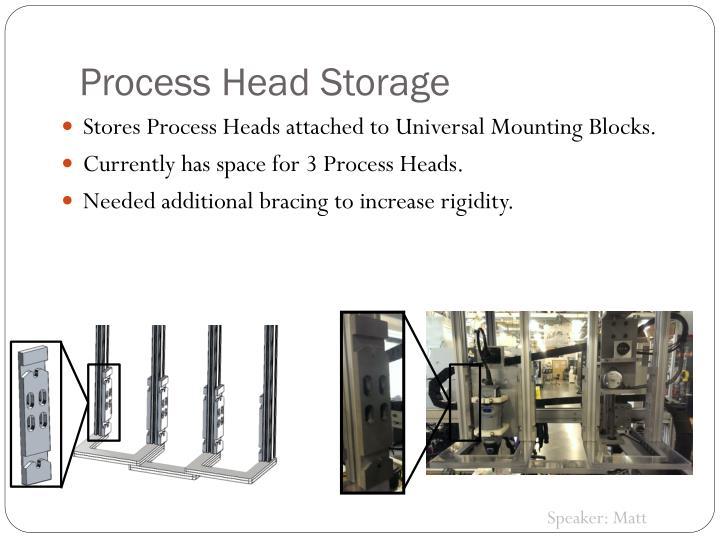 Process Head Storage