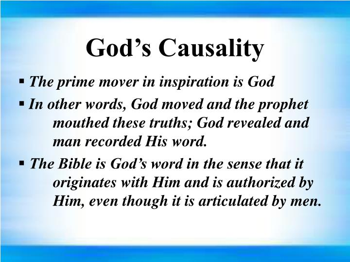 God's Causality