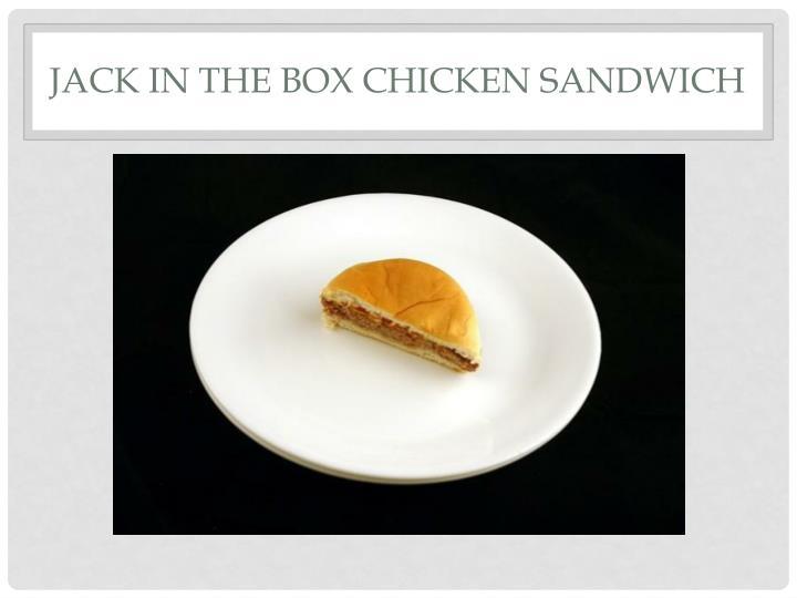 Jack in the Box Chicken Sandwich