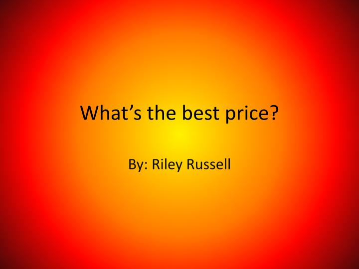 what s the best price n.