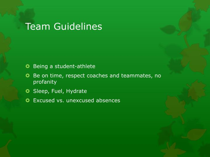 Team Guidelines